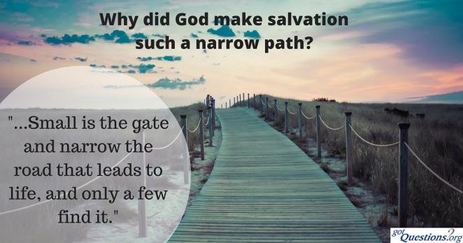Islam salvation - narrow-path